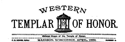 Western Templar Of Honor newspaper archives