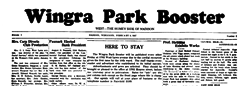 Wingra Park Booster newspaper archives
