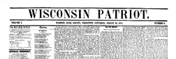 Wisconsin Patriot newspaper archives