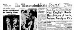 Wisconsin State Journal newspaper archives