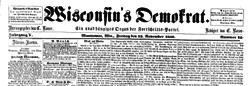 Wisconsins Democrat newspaper archives