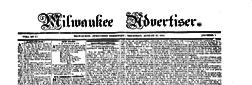 Milwaukee Advertiser newspaper archives