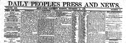 Milwaukee Daily People Press And News newspaper archives