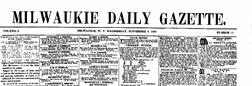 Milwaukie Daily Gazette newspaper archives
