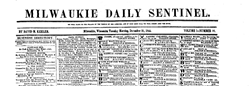 Milwaukie Daily Sentinel newspaper archives