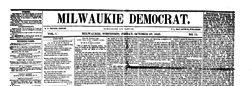 Milwaukie Democrat newspaper archives