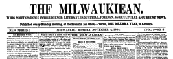 Milwaukiean newspaper archives