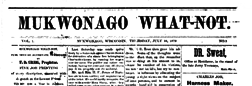 Mukwonago What Not newspaper archives