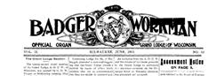 Badger Workman newspaper archives