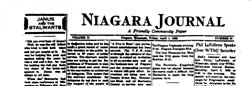 Niagara Journal newspaper archives
