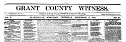 Grant County Witness newspaper archives