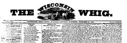Platteville Wisconsin Whig newspaper archives