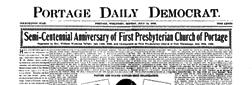 Portage Daily Democrat newspaper archives
