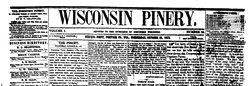Wisconsin Pinery newspaper archives