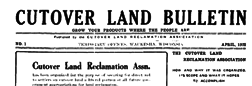 Cutover Land Bulletin newspaper archives