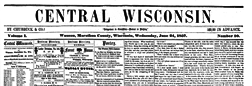 Central Wisconsin newspaper archives