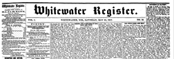 Whitewater Register newspaper archives