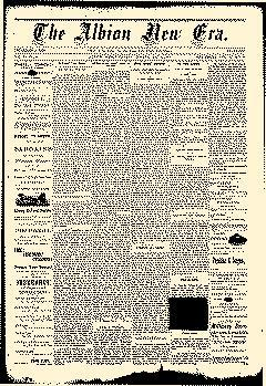 Albion New Era newspaper archives