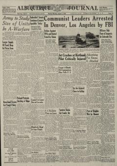 Albuquerque Journal Newspaper Archives, Aug 2, 1954
