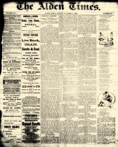 Alden Times newspaper archives