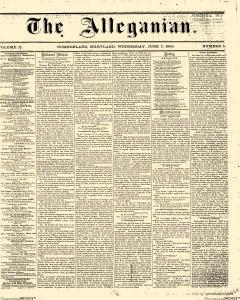Alleganian newspaper archives