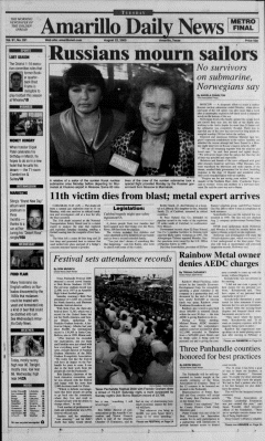 Amarillo Daily News Newspaper Archives, Aug 22, 2000