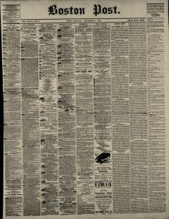 Boston Post Newspaper Archives, Sep 9, 1870, p  1