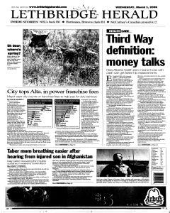 Lethbridge Herald, March 01, 2006, Page 1