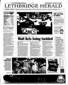 Lethbridge Herald, March 29, 2006, Page 1