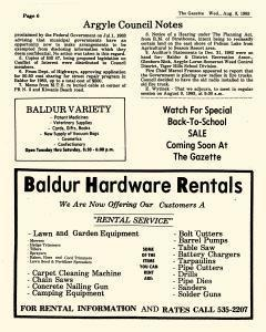 Baldur Gazette, August 03, 1983, Page 6