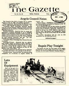 Baldur Gazette, August 03, 1983, Page 1