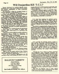Baldur Gazette, October 12, 1983, Page 14