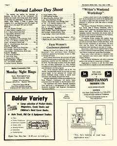 Baldur Gazette, September 02, 1986, Page 6