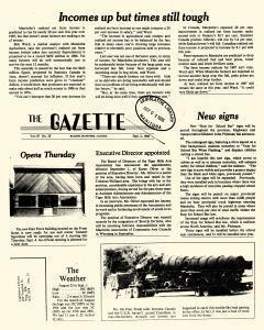 Baldur Gazette, September 02, 1986, Page 1