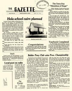 Baldur Gazette, September 09, 1986, Page 1