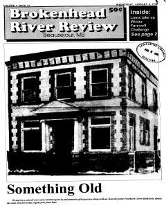 Beausejour Brokenhead River Review, January 04, 1995, Page 1