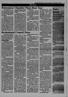 Beausejour Brokenhead River Review, January 26, 1995, Page 3