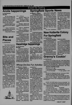 Beausejour Brokenhead River Review, February 28, 1995, Page 6