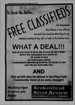 Beausejour Brokenhead River Review, February 28, 1995, Page 16