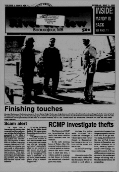 Beausejour Brokenhead River Review, May 09, 1995, Page 1