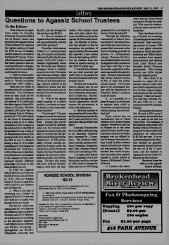 Beausejour Brokenhead River Review, May 09, 1995, Page 5
