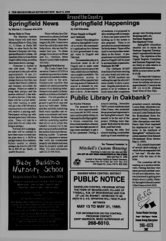 Beausejour Brokenhead River Review, May 09, 1995, Page 6