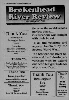 Beausejour Brokenhead River Review, May 09, 1995, Page 14