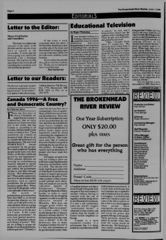 Beausejour Brokenhead River Review, June 11, 1996, Page 2