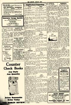 Roblin Review And Togo News, June 22, 1939, Page 1