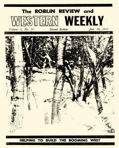 Roblin Review And Western Weekly, January 30, 1963, Page 1