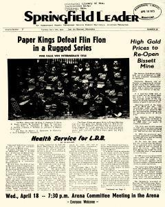 Springfield Leader, April 17, 1973, Page 1