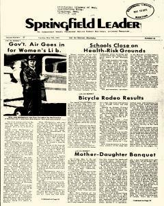 Springfield Leader, May 15, 1973, Page 1