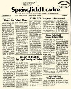 Springfield Leader, September 25, 1973, Page 1