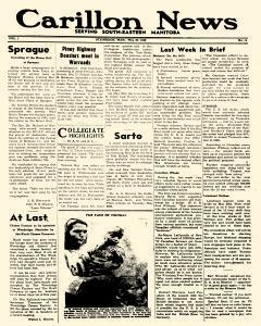 Steinbach Carillon News, May 30, 1946, Page 1